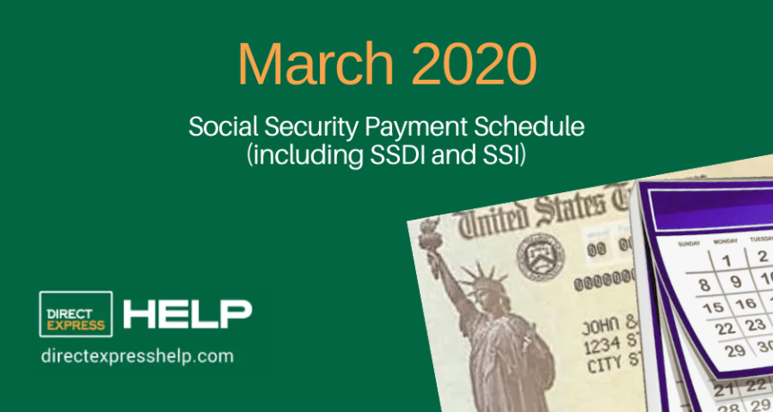 """March 2020 Social Security Payment Schedule"""