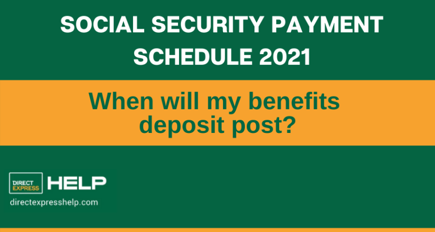 """2021 Social Security Payment Schedule"""