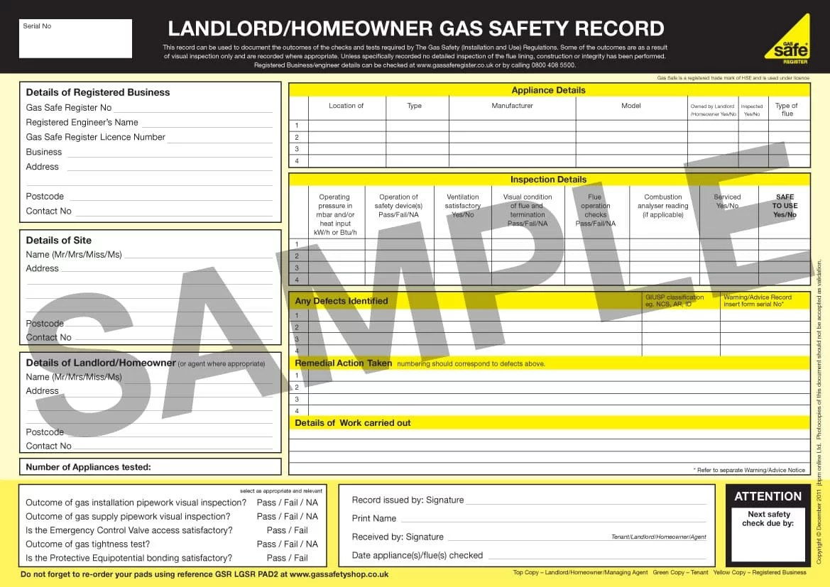 What is a Landlord's Gas Safety Certificate?