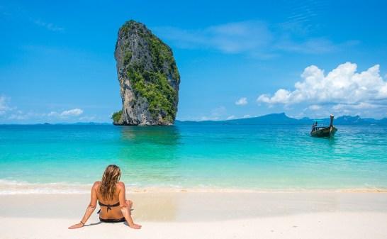 Relajándose en Koh Poda, Krabi