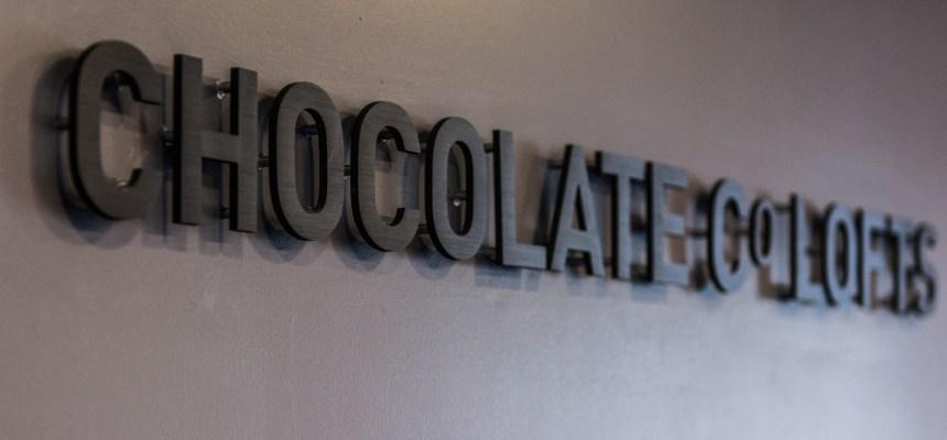 Chocolate Co Lofts Lobby Sign