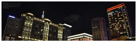 Building Tops (Taipei City Hall MRT Station): An attempt at night shots