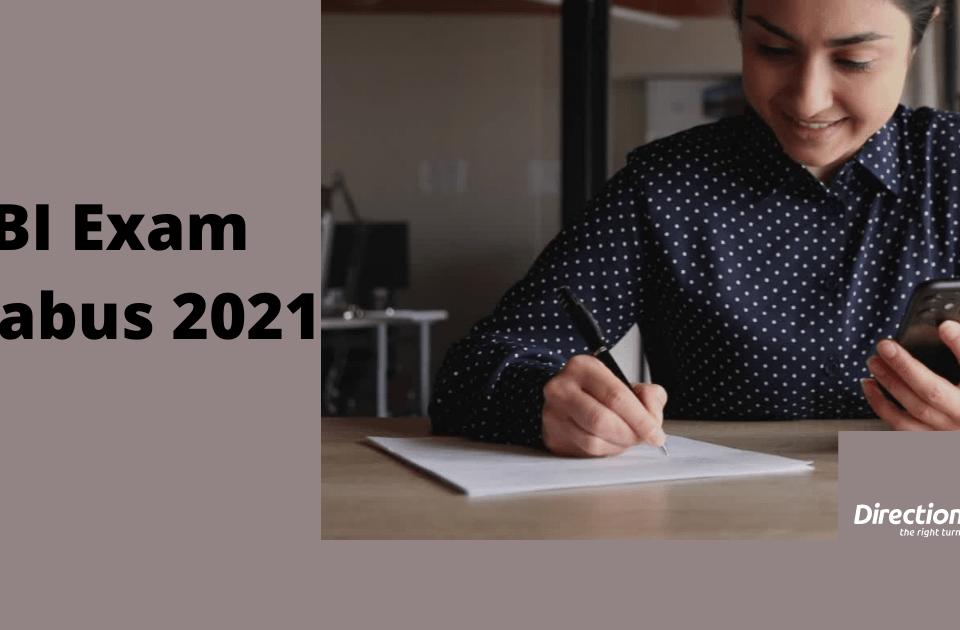 sbi exam syllabus 2021