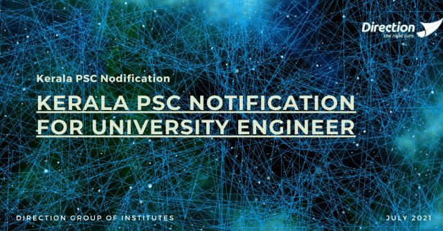 KERALA PSC NOTIFICATION FOR UNIVERSITY ENGINEER (1)