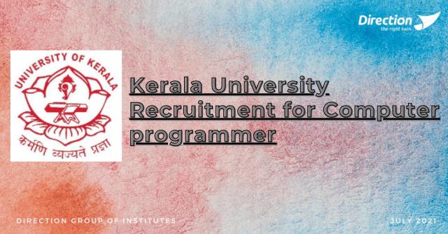 Kerala University Recruitment for Computer programmer