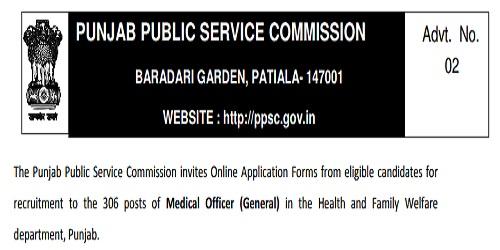 PPSC Punjab Recruitment 2018 Apply Online