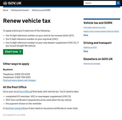 Pay Your Car Tax Online