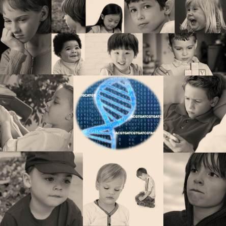An array of children