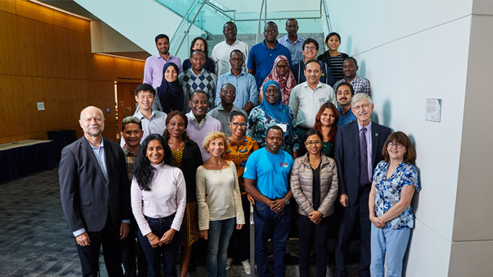 Francis Collins and meeting participants
