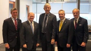Francis Collins with Delaware dignitaries