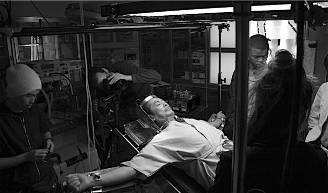 Dir. Jerome Olivier films on set