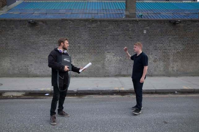 Director Rene Pannevis & actor Thomas Turgoose