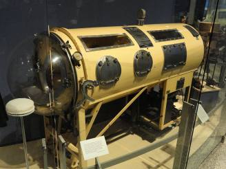 I decided to create an Iron Lung, that the deep-sea diver swims away from. They were life-saving but hugely constricting as devices, and also seem like submarines or space ships so would work well for the world of the film.
