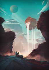 Mystic Cubic Waterfalls - Henrik Evensen concept art
