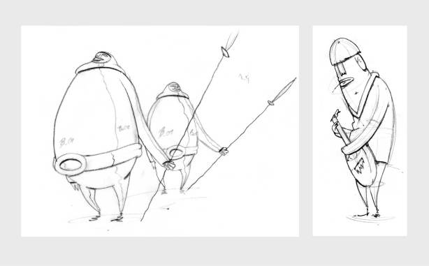 Guards character sketches