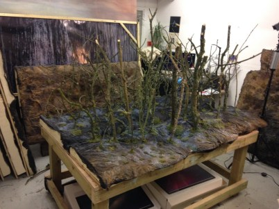 Creating sets in the studio