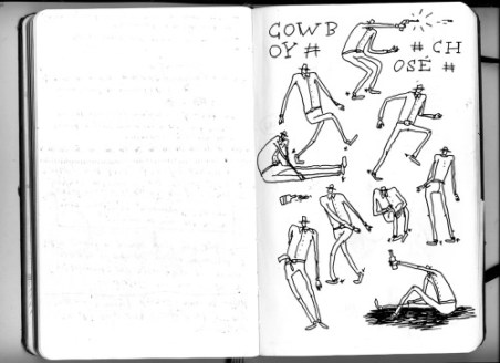 Early notebook sketches