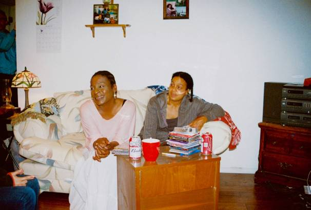 Actors, Samone Murray & Maria Mabra, in character.
