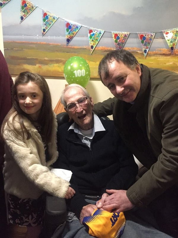 John Coffey (Boherlahan-Dualla) who celebrated his 100th birthday recently.