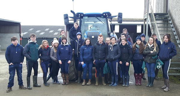 Borrisoleigh's finest future farmers attending a Leaving Cert Ag Science course at Kildalton agricultural college