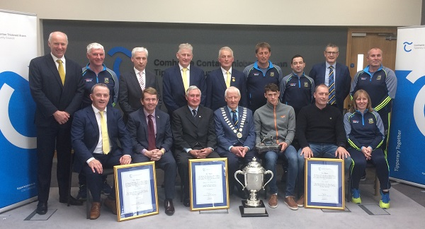 Photographed are representatives of Tipperary Co. Council and Tipperary GAA delegations.