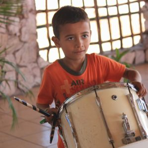 A boy and his drum