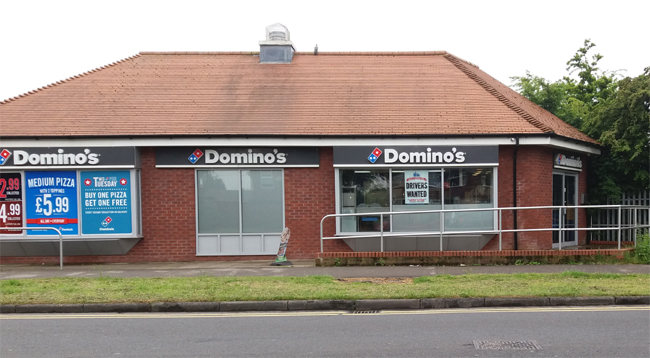 Dominos Pizza, County Road