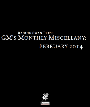 Free Role Playing Game Supplement Review: GM's Monthly Miscellany: February 2014