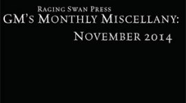 GM's Monthly Miscellany: November 2014