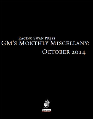 GM's Monthly Miscellany: October 2014