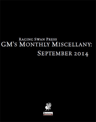 GM's Monthly Miscellany: September 2014