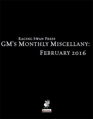 GM's Monthly Miscellany: February 2016