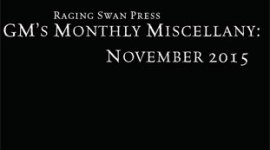 GM's Monthly Miscellany: November 2015