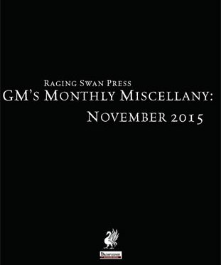 Free Role Playing Game Supplement Review: GM's Monthly Miscellany: November 2015