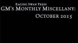GM's Monthly Miscellany: October 2015