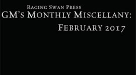 GM's Monthly Miscellany: February 2017