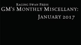 GM's Monthly Miscellany: January 2017