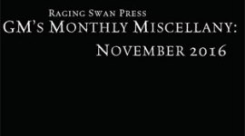 GM's Monthly Miscellany: November 2016