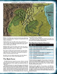A map from Sword of Air - Swords and Wizardry