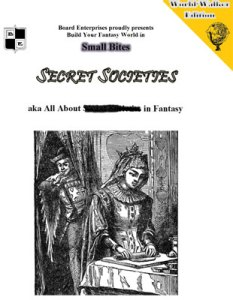 Secret Societies aka All About Secret Societies in Fantasy