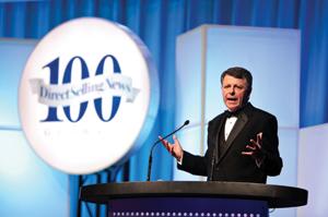Emcee Brian Connolly, former President of Avon North America.