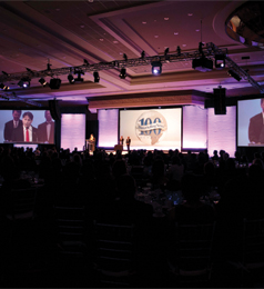 Over 300 industry executives attended the Global 100 Celebration.