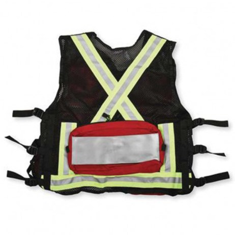 first aid vest red