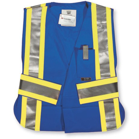 royal blue fr hi vis 5 point tear away vest