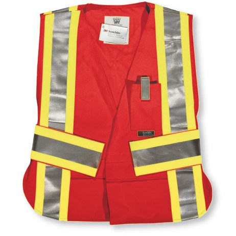red fr hi vis 5 point tear away vest