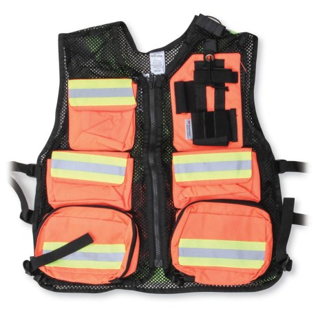 Orange and Black Mesh Safety Vest