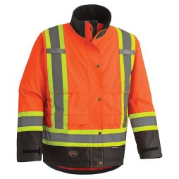 300D HI-VIZ RIPSTOP WATERPROOF SAFETY JACKET