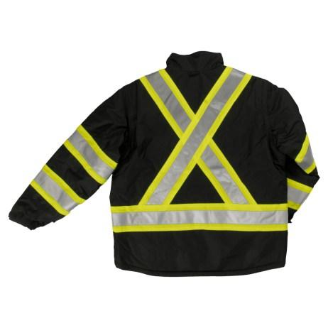 black 5 in 1 safety jacket