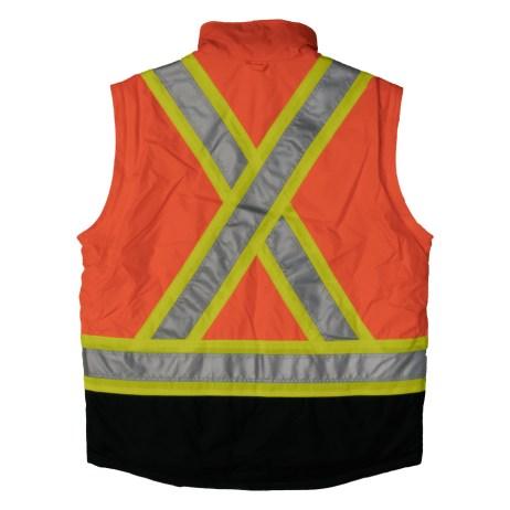 lined orange 5 in 1 jacket