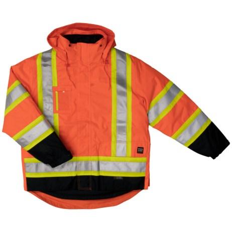 orange safety 5 in 1 jacket